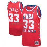 New York Knicks Patrick Ewing 33# Red 1989 All Star Hardwood Classics NBA Basketlinne..